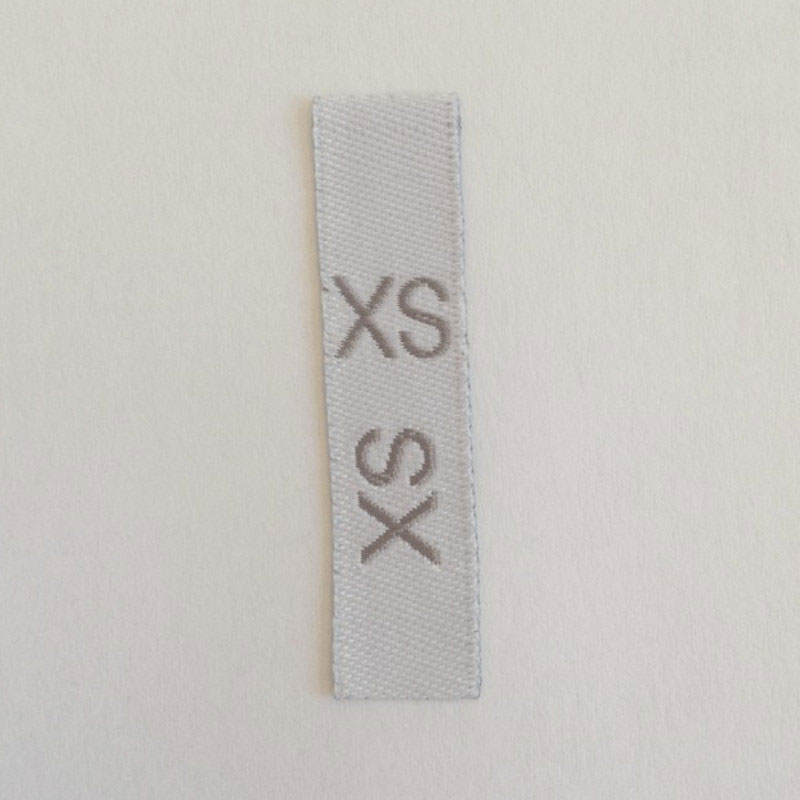 étiquettes taille pour vêtement XS