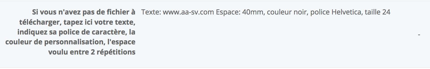 ruban personnalisé commandé sans fichier sur notre site