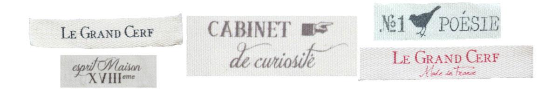 gamme étiquettes en coton écru