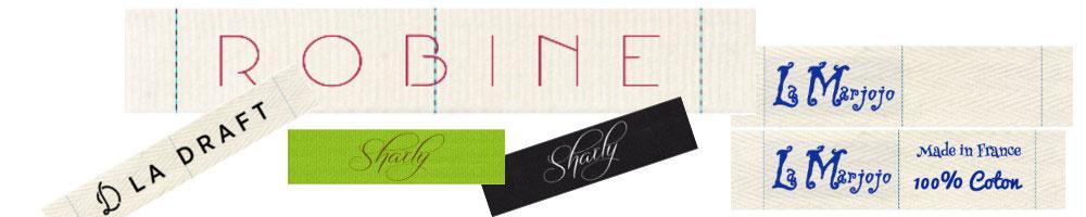 étiquette coton avec logo