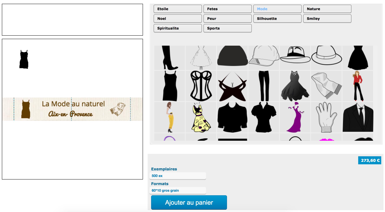 Ajout de la seconde et troisisème image sur vos étiquettes pour vêtement en coton