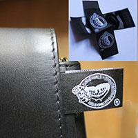 étiquettes pour vêtement 20 * 60 mm pliage centré et taffetas