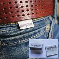 étiquettes puce jeans
