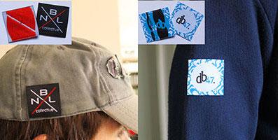 Etiquettes vêtements carré