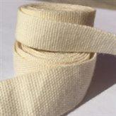 bracelet coton écru gros grain 10 et 15 mm
