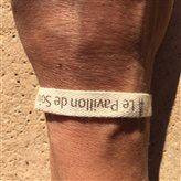 bracelet personnalisé coton écru sergé 15 mm