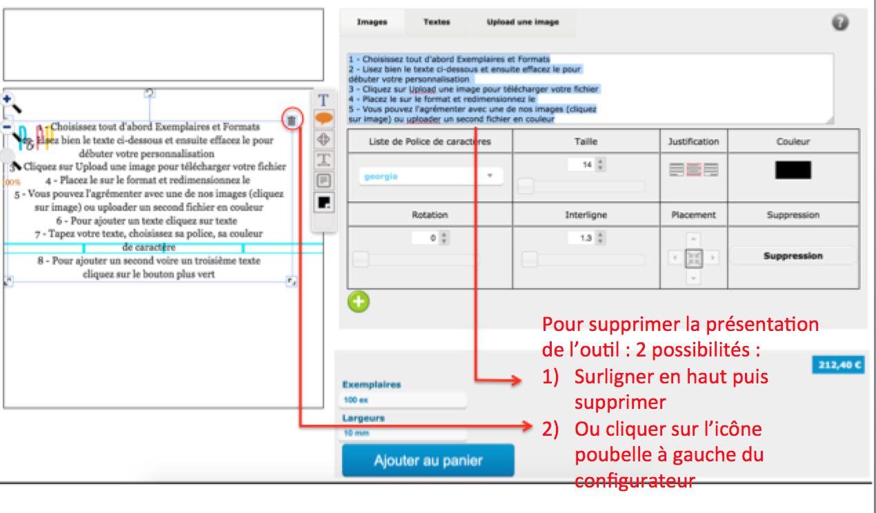supprimez le texte de présentation de notre outils pour personnaliser vos bracelets en couleurs