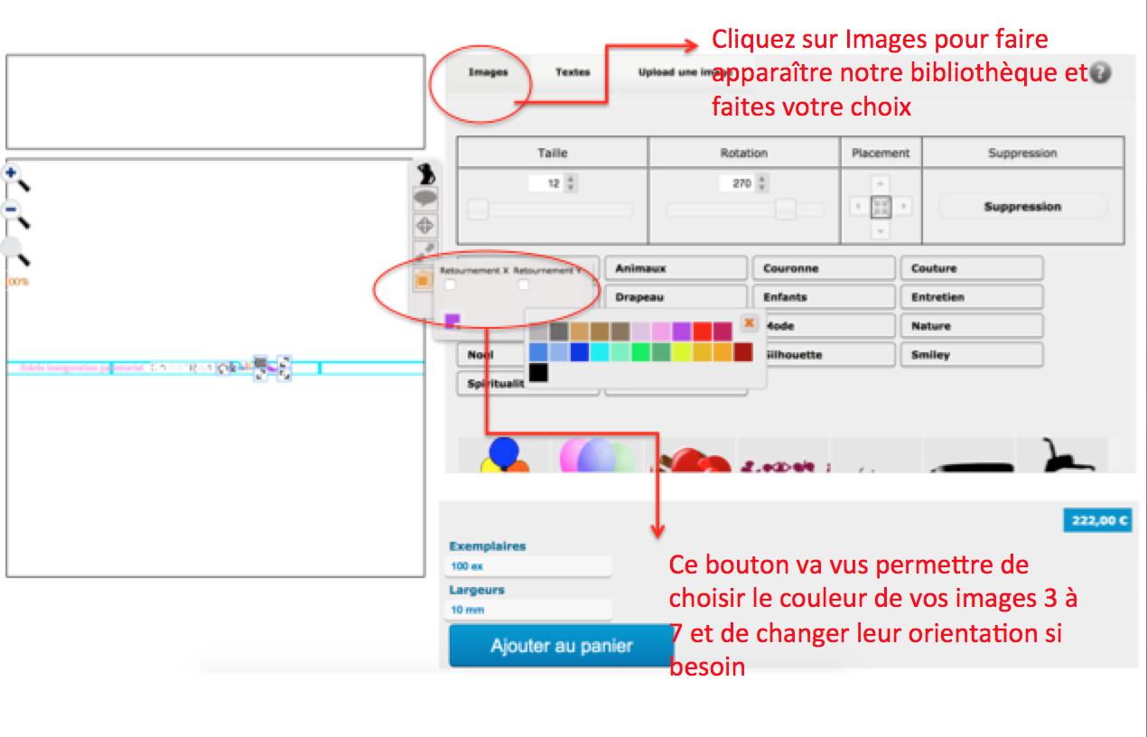 ajouter des fichiers en couleurs à vos bracelets événementiels en couleurs