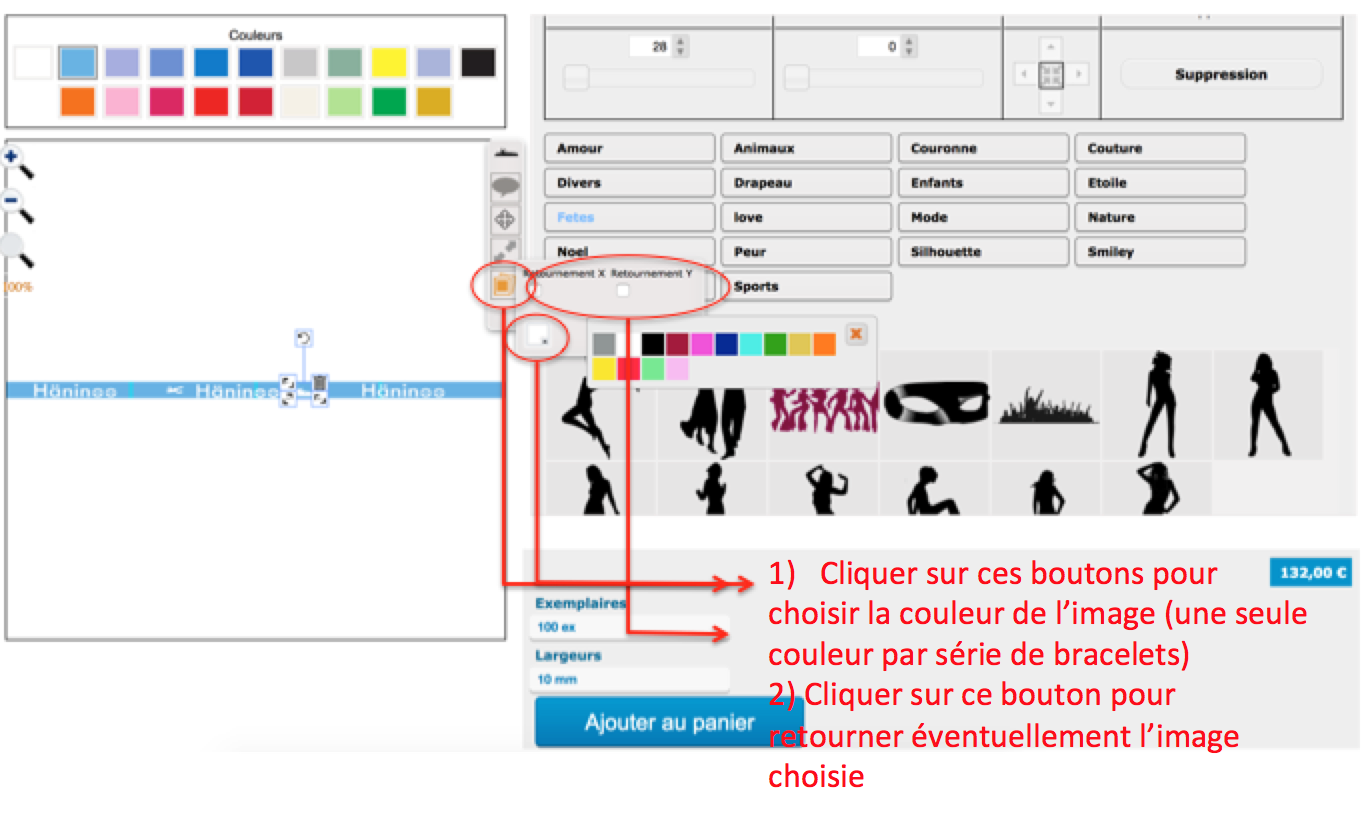 Ajouter des fichiers à la personnalisation de vos bracelets brésiliens avec logo