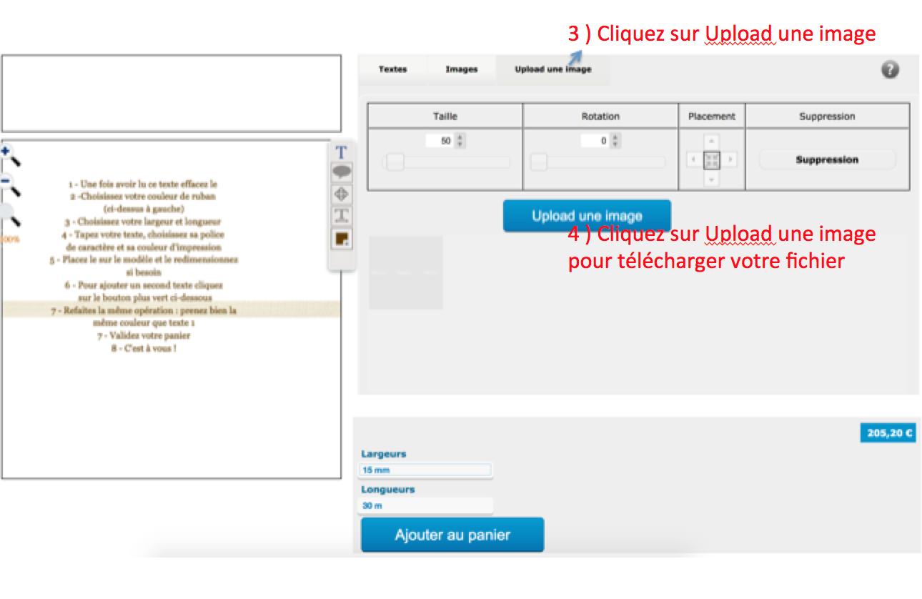 télécharger votre fichier ruban personnalisé en coton