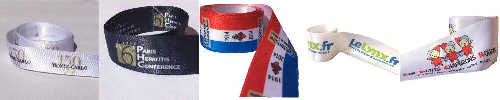 gamme ruban personnalisé en couleurs