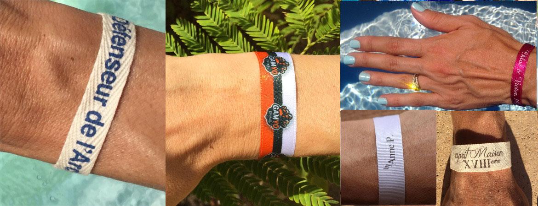 notre gamme complète bracelets personnalisés