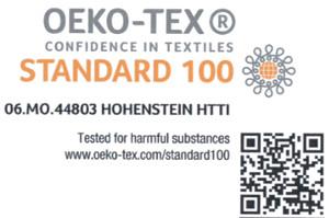 étiquettes pour vêtements personnalisées Oeko-Tex