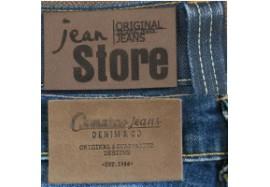 Jacron, étiquettes jeans en simili cuir ou cuir